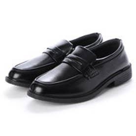 ビジネスシューズ メンズ 撥水 コインローファー 紳士靴 (BLACK)