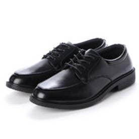 ビジネスシューズ メンズ 撥水 外羽 紳士靴 (BLACK)