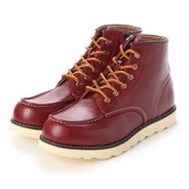 ブーツ メンズ 軽量サイドジップワークブーツ (RED.BROWN)