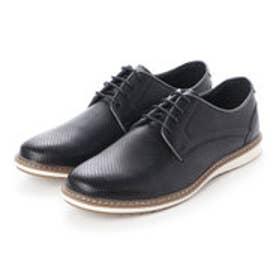シューズ メンズ PUレザーカジュアル ビジカジ コンフォート靴(BLACK)