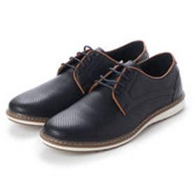 シューズ メンズ PUレザーカジュアル ビジカジ コンフォート靴(NAVY)