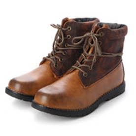 ブーツ メンズ 4cm防水ロールトップワークブーツ (CAMEL)