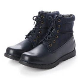 ブーツ メンズ 4cm防水ロールトップワークブーツ (NAVY)