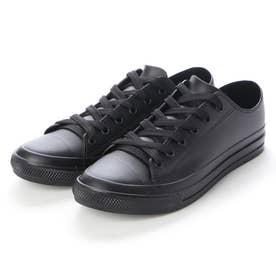 レインスニーカー メンズ ローカットシューズ 防水雨靴(BLACK)