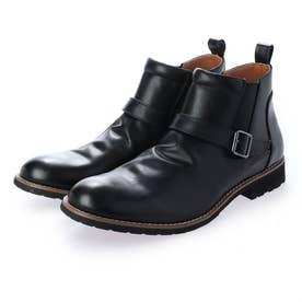 サイドゴア ベルトショートブーツ (BLACK)