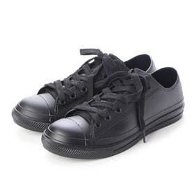 レインスニーカー レディース ローカットシューズ 防水雨靴(BLACK)