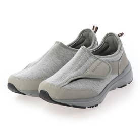 「新あなた想い」 介護シューズ レディース 室内 幅広 3E 4E 軽量靴 マジックテープ リハビリシューズ 外反母趾 (GRAY) Braccianoセレクト