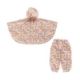 レインポンチョ&レインパンツセット (ピンク)