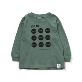 5色5柄Go to the world Tシャツ (ミント)