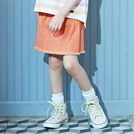 カラフルフリンジスカート (オレンジ)