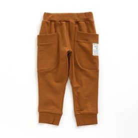 サイドポケットカットパンツ  9分丈 (キャメル)