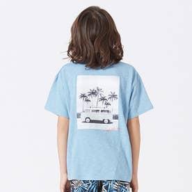 バックフォトTシャツ (ブルー)