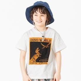 ボックス恐竜Tシャツ (オフホワイト)