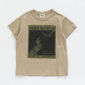 ボックス恐竜Tシャツ (ベージュ)