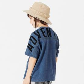 バックロゴTシャツ (ブルー)
