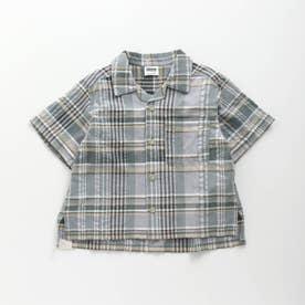 サッカーチェックシャツ (ミント)