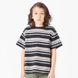 マルチボーダーTシャツ (ブラック)