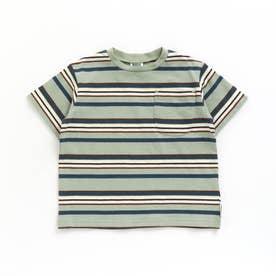 マルチボーダーTシャツ (ミント)