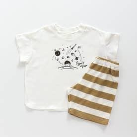 Boy'sスリープ柄パジャマ (オフホワイト)