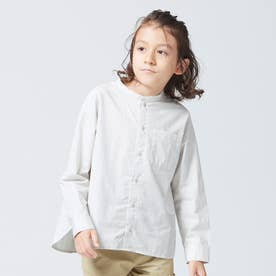 バンドカラーシャツ (ライトグレー)