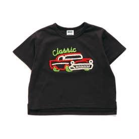 5色5柄サガラ刺繍Tシャツ (チャコール)