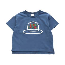 5色5柄サガラ刺繍Tシャツ (ブルー)