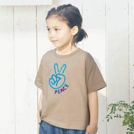 5色5柄サガラ刺繍Tシャツ (ベージュ)