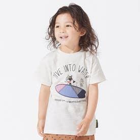 ブルドッグパッチワークTシャツ (オフホワイト)