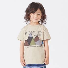 ブルドッグパッチワークTシャツ (ベージュ)