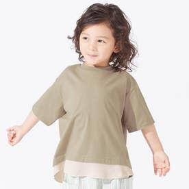 レイヤード風Tシャツ (ベージュ)