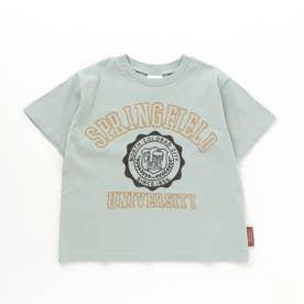 カレッジロゴTシャツ (ミント)