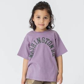 カレッジロゴTシャツ (パープル)