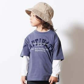 6柄5分袖Tシャツ (パープル)