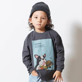 3柄アニマルワッペンTシャツ (チャコール)