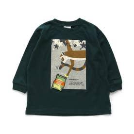 3柄アニマルワッペンTシャツ (ダークグリーン)