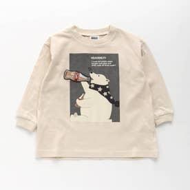 3柄アニマルワッペンTシャツ (オフホワイト)