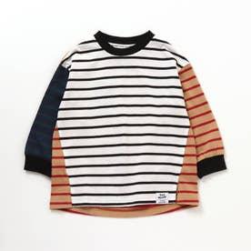 ボーダーTシャツ (レインボー)