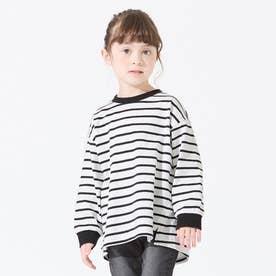 ボーダーTシャツ (ブラック)