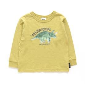 水彩恐竜Tシャツ (イエロー)