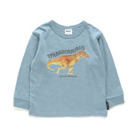 水彩恐竜Tシャツ (サックス)