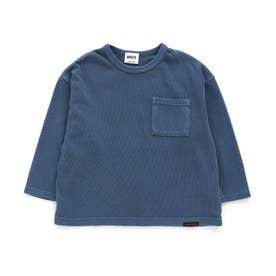 WEB限定 製品染めビックロゴロンTシャツ (ブルー)