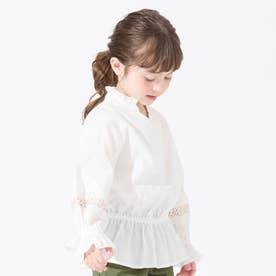 袖刺繍ブラウス (オフホワイト)