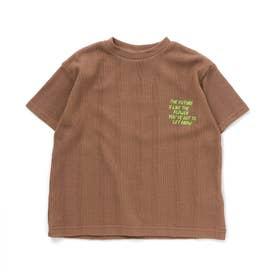 ワッフルTシャツ (ブラウン)