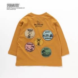 PEANUTS ガーデンワッペンリンクTシャツ(スヌーピー) (キャメル)