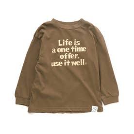 4柄5色Tシャツ (ブラウン)