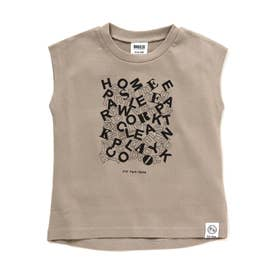 3柄3色ノースリーブTシャツ (グレー)