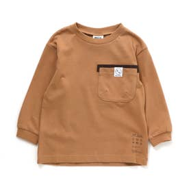 2柄5色ポケットTシャツ (ベージュ)
