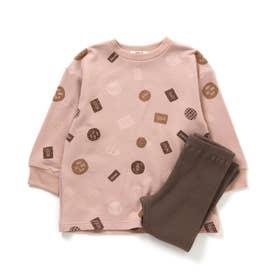 Girl'sクッキーリラックスウェア (ピンク)