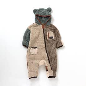 ファーフリースジャンプスーツ (レインボー)