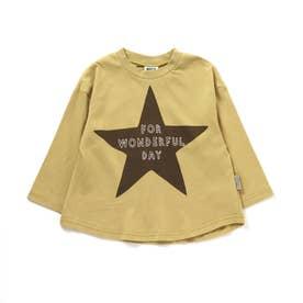 2柄ステッチ刺繍Tシャツ (イエロー)
